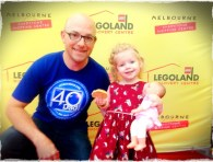 Daddy and daughter at Legoland