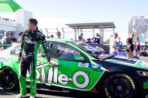 Mark Winterbottom about to get into his Bottle-O V8 Supercar.
