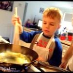 stirring the pan