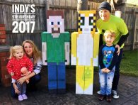 minecraft party family pic