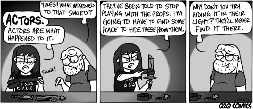 q2qcomics:Q2Q Comics #49: Actors Happened ToIt