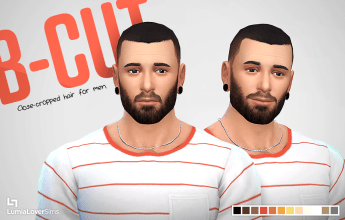 Coiffures homme Sims 4