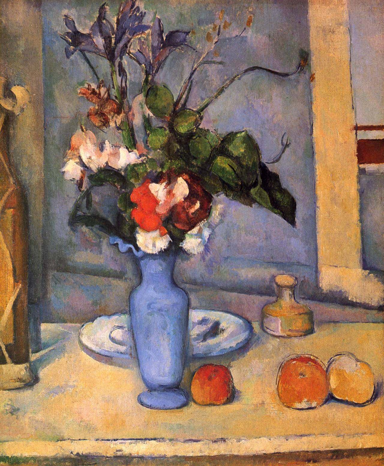 herzogtum-sachsen-weissenfels: Paul Cézanne (French, 1839-1906), Still Life with a Blue Vase, 1885-87. Oil on canvas,61 x 51 cm.