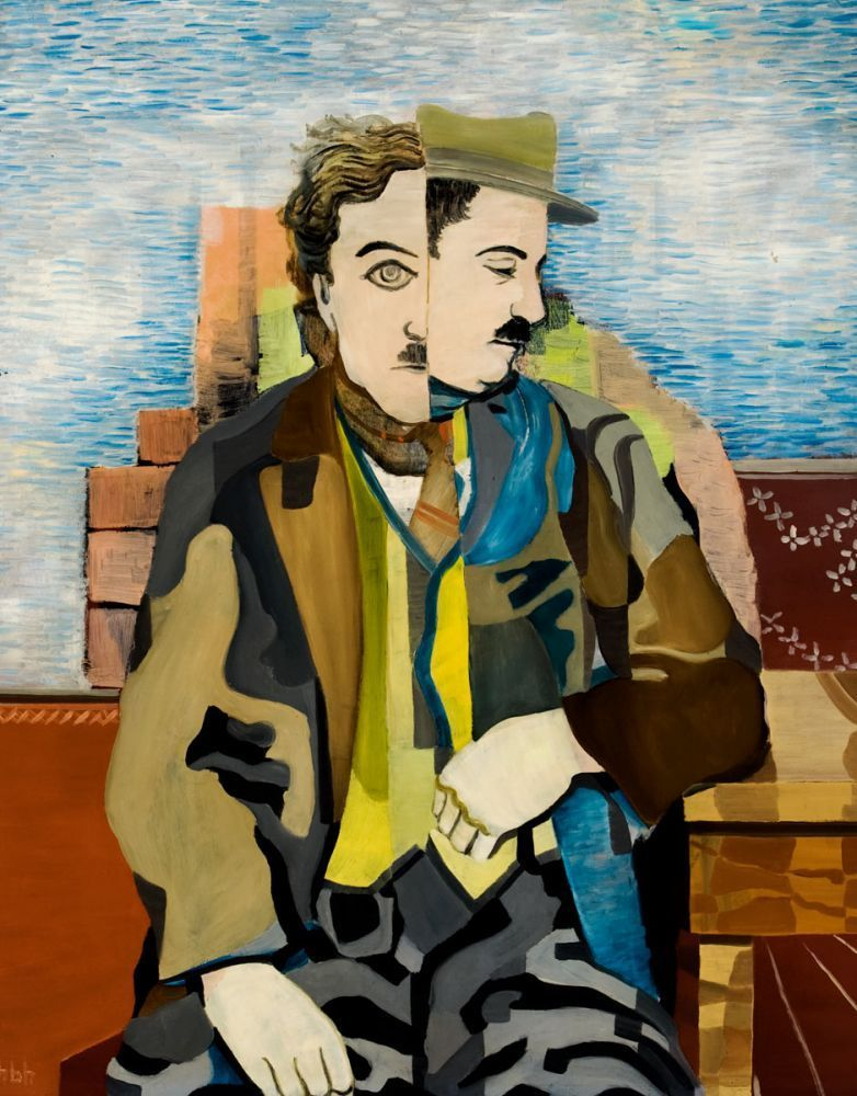 thunderstruck9: Herbert Behrens-Hangeler (German, 1898-1981), Charlie Chaplin, 1931. Oil on canvas, 96 x 78 cm.