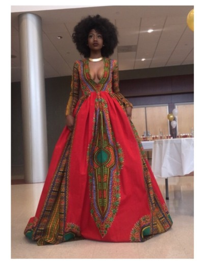 Pretty Impression Handmade African Inspired Prom Dress