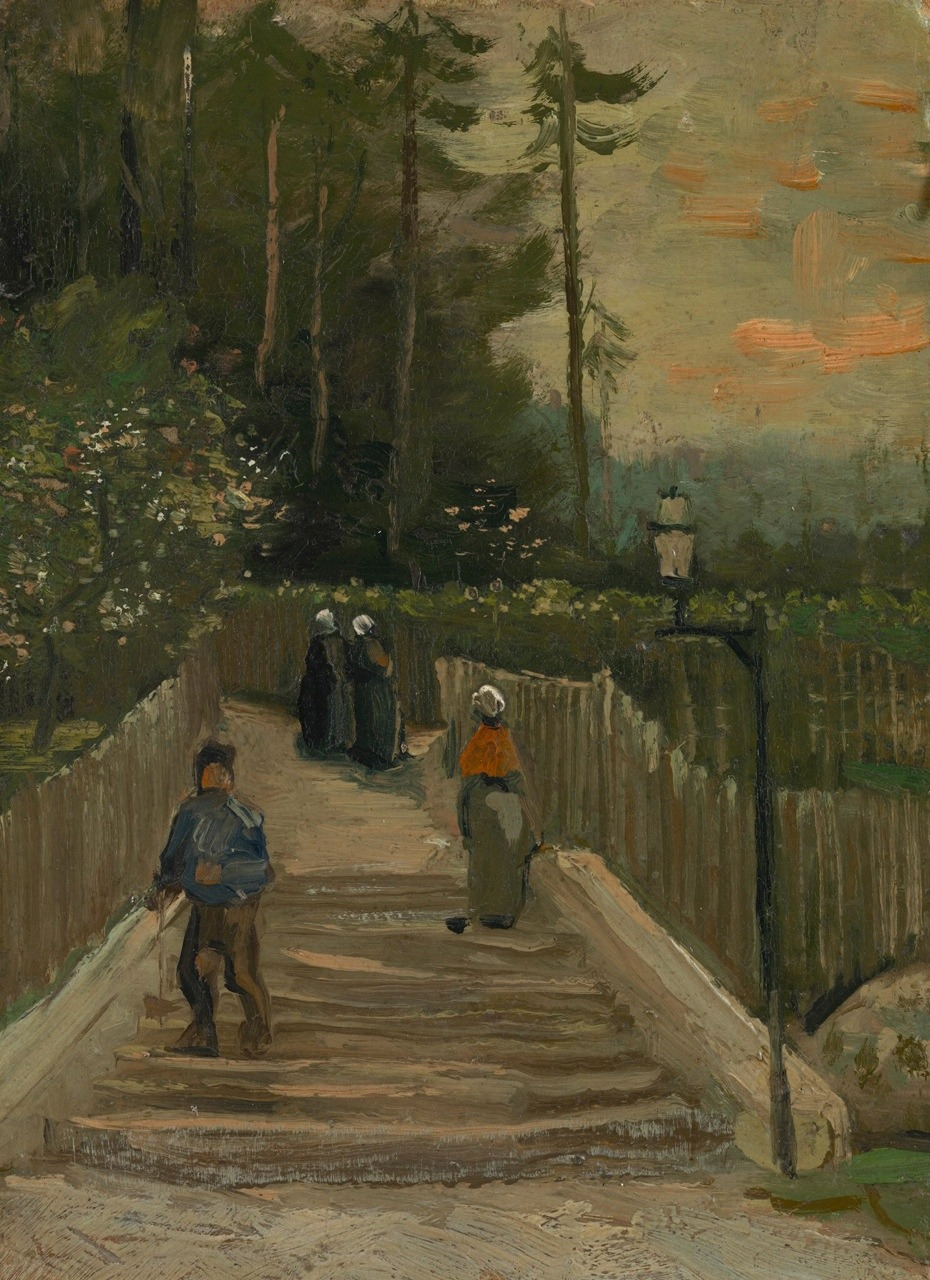"angelart-stuff:</p> <p>""Path in Montmartre"" (1887)<br /> ~ Vincent van Gogh"