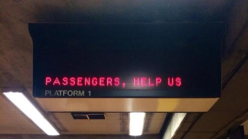 Passengers, help us