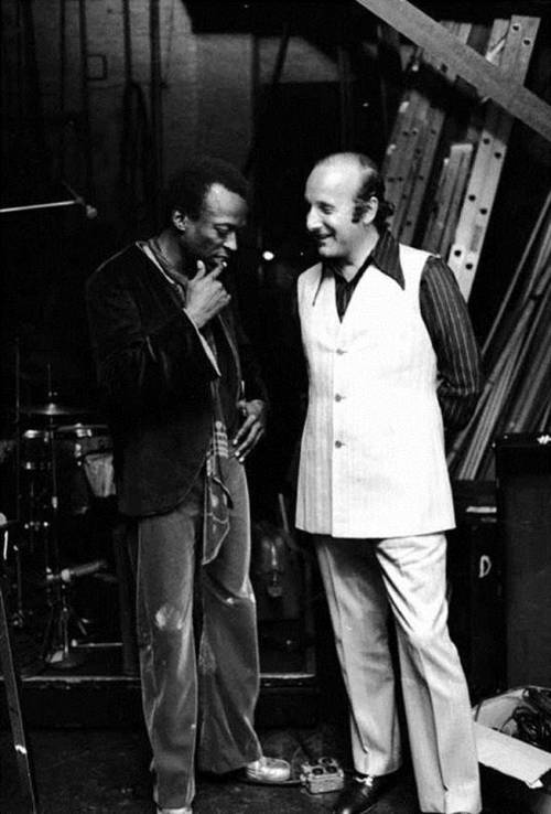 Miles Davis and Clive Davis