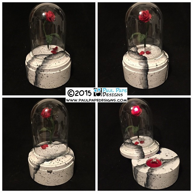 #Disney #BeautyAndTheBeast #FloatingRose #custom #engagement #Ringbox by #paulpapedesigns