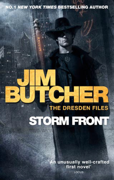 Storm Front by Jim Butcher I've owned a  copy of this book for like a thousand years. A good friend recommended  the series to me way back when there were a quarter as many books as  there are now. And just think, had I taken his advice to heart I would  have just gobbled down the latest book, not the first. Ah well such is  life sometimes. This is most defiantly the year of reading all the old  books I never touched for one reason or another. So  way back when, I had a hard time getting into the first book let alone  the whole series. I'm not even really sure why in all honesty, but I'm  glad that I gave it another go because wow! This book was go-go-go from  the very beginning. It's like it never stopped to breathe. Sometimes I  think I stop to breathe too much in my books, and this was the extreme  opposite. It was refreshing, I laughed, I was shocked at one point, I  was kept wondering page after page.I read that this was Jim Butcher's first novel and all I have to say is how impressed I am. Everything comes back around. I know  this is an extra short review. Sometimes that's just life. I did start  book two today, so maybe there will be a bit more depth to that review.  Until next time.
