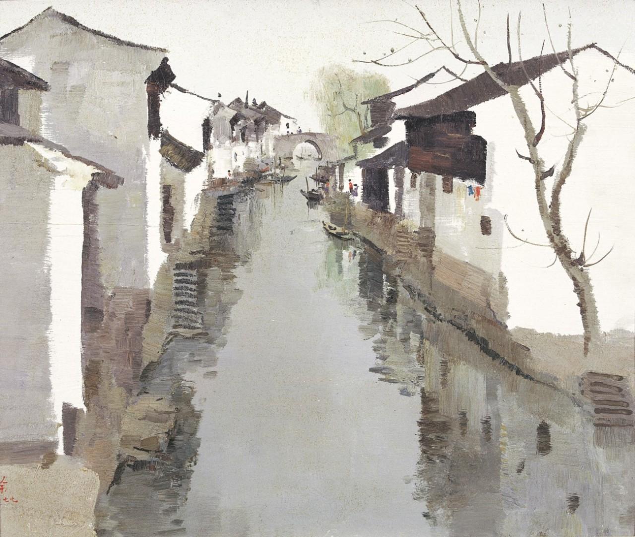 Wu Guanzhong (1919 - 2010) Lu Xun's Old Home, 1977