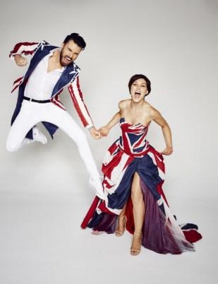 Rylan and Emma got dressed up to celebrate the UK v USA theme