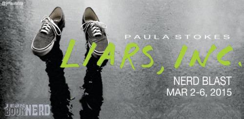 Liars, Inc by Paula Stokes Nerd Blast Banner