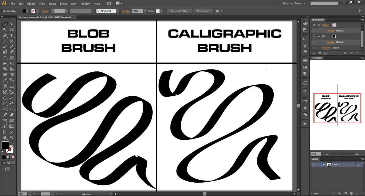 Blob Brush Adobe Illustrator