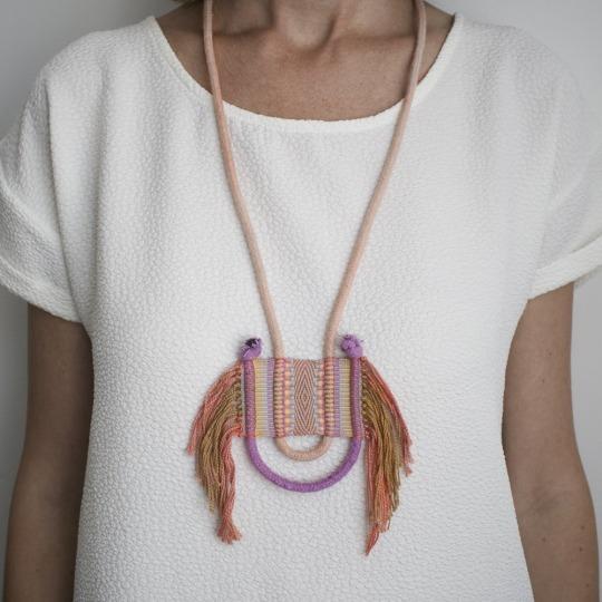 Handwoven Fibre Jewellery by Lesh