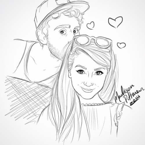 alfie and zoella drawing sketch coloring page