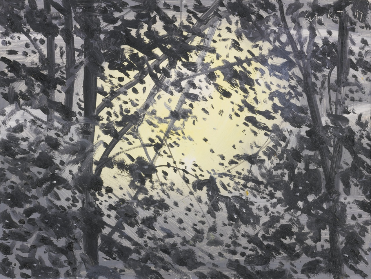 thunderstruck9:  Alex Katz (American, b. 1927), Moonlight, 1997. Oil on board, 9 x 12 in.