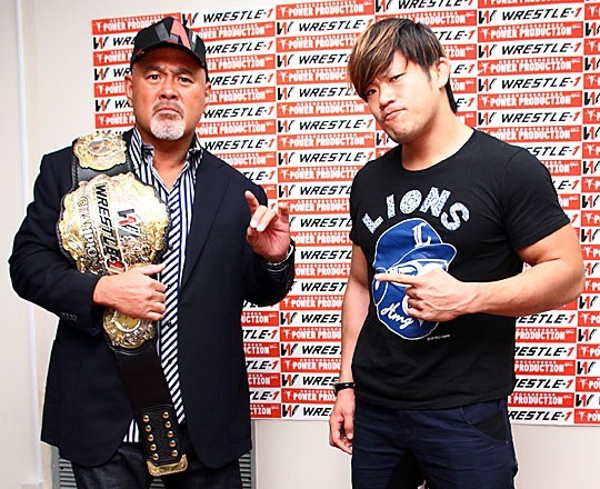 """[WRESTLE-1 News] W-1 announced that the next WRESTLE-1 Championship match will be taking place on December 22nd as the new champion Keiji Mutoh will be taking on Seiya Sanada.Just a few days after Mutoh defeated Masayuki Kono to become the 2nd generation champion, his first defense will be against one his current top protege's in Seiya Sanada. This is the first time in 6 years that Mutoh has laid claim to a singles belt, last being NJPW's IWGP Heavyweight belt in 2008. A theme has now been placed upon the belt as the veteran Mutoh sets off against the young stars of W-1, the first of which being against Sanada. Mutoh himself stated that he has chosen Sanada to be his first opponent. Mutoh stated that he never thought he would be champion once more in his 50's, but he is confident that he still has the heart and will to defend the belt. Mutoh stated that the young talent need to rise now more than ever. There is a high wall for all of them to climb, but he himself wants to put a test on all of them now. He also noted that his birthday will be the next day following the championship match and he aims to remain champion for his 52nd birthday.Sanada stated that there is more weight now than ever for himself to finally overcome Mutoh and he aims to fulfill another of his dreams by claiming a major singles belt in Japan.He noted that he is still a bit bitter for losing to Mutoh back on 7/7 of this year at the Ryogoku, but the dawn of a new era is on the horizon. Sanada has vowed that he will finally overcome Mutoh and begin the true first steps for the young talent in W-1 to find their own place. WRESTLE-1 """"GAORA presents WRESTLE-1 Tour 2014 Final"""", 12/22/2014 [Mon] 18:30 @ Korakuen Hall in Tokyo(-) WRESTLE-1 Championship Match: [2nd Champion] Keiji Mutoh vs. [Challenger] Seiya Sanada~ 1st title defense."""