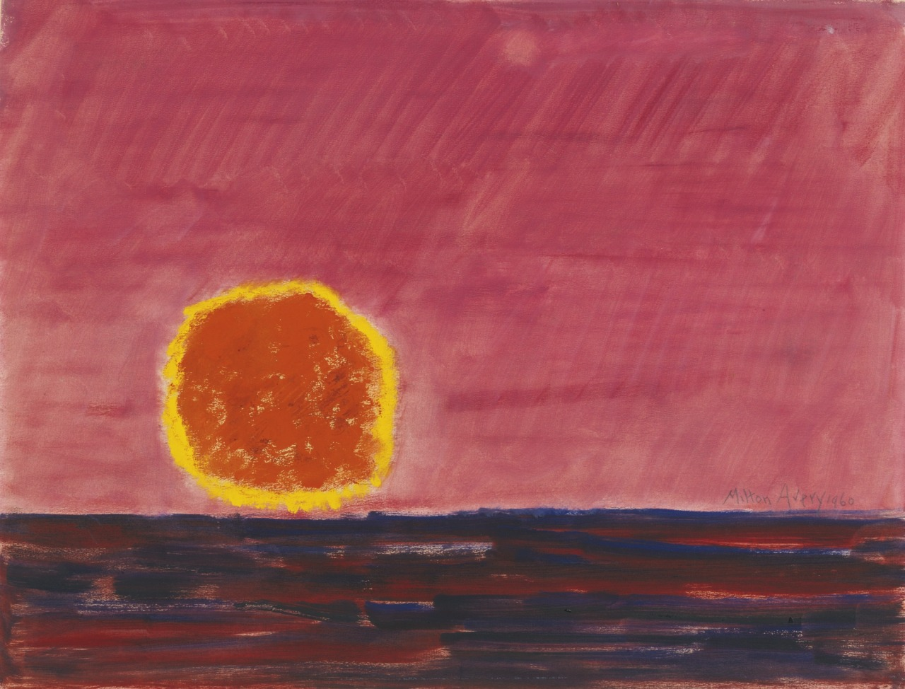 thunderstruck9:Milton Avery (American, 1885-1965), Ringed Sun, 1960. Oil on paper, 171/2 x 23 in.