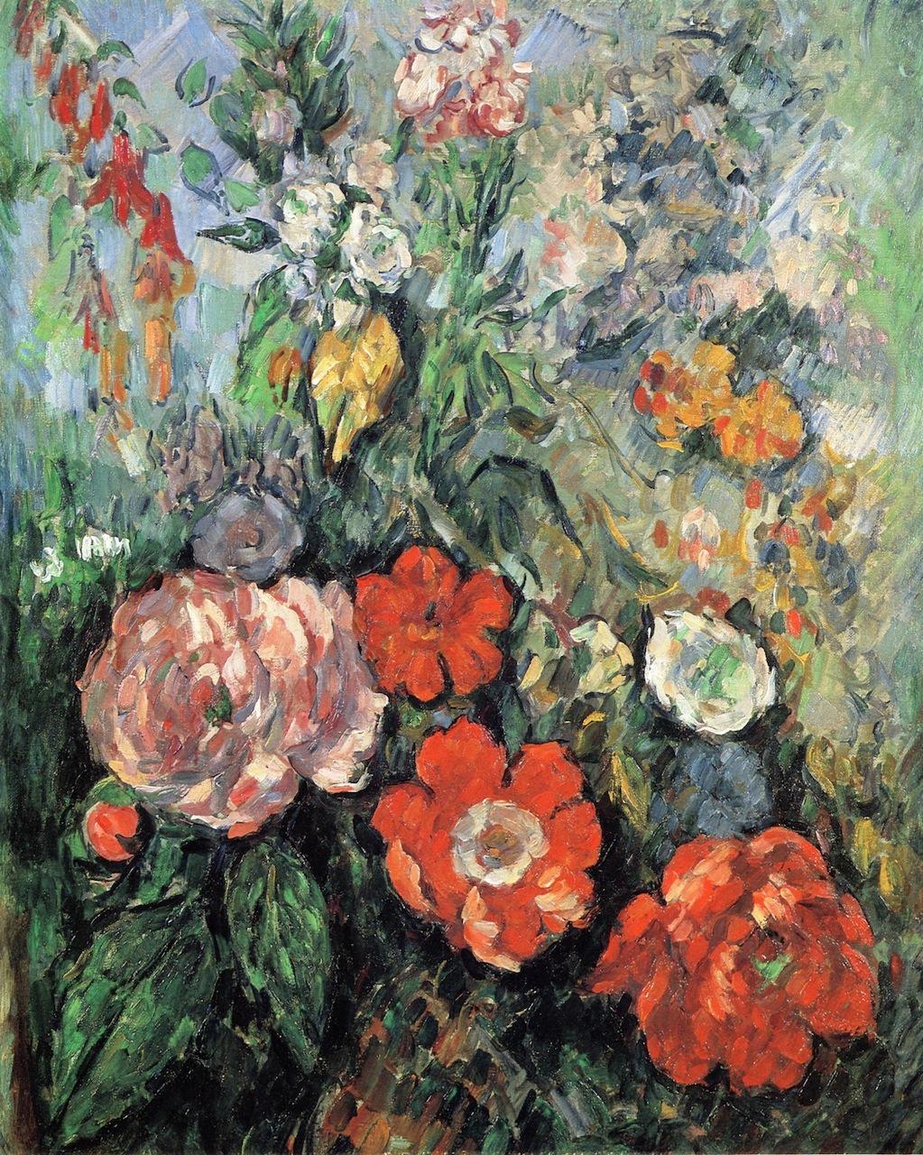 dappledwithshadow:  FlowersPaul Cézanne, circa 1879-1880