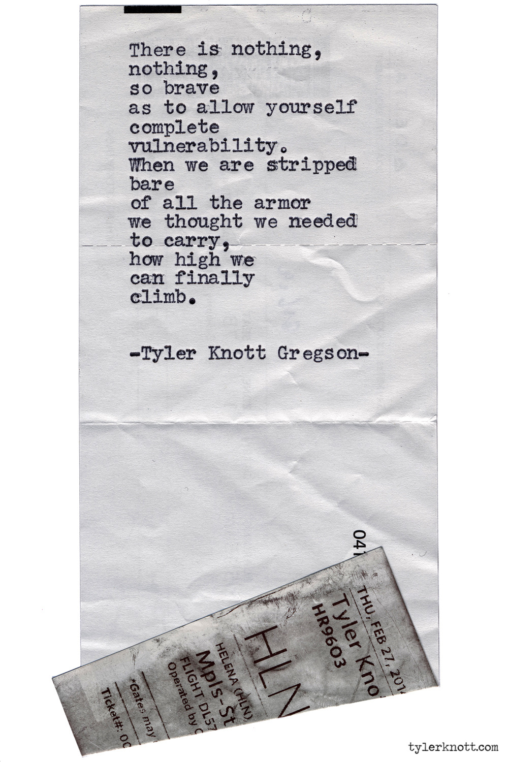 Typewriter Series #973 by Tyler Knott Gregson *It's official, my book, Chasers of the Light, is out! You can order it through Amazon, Barnes and Noble, IndieBound , Books-A-Million , Paper Source or Anthropologie *