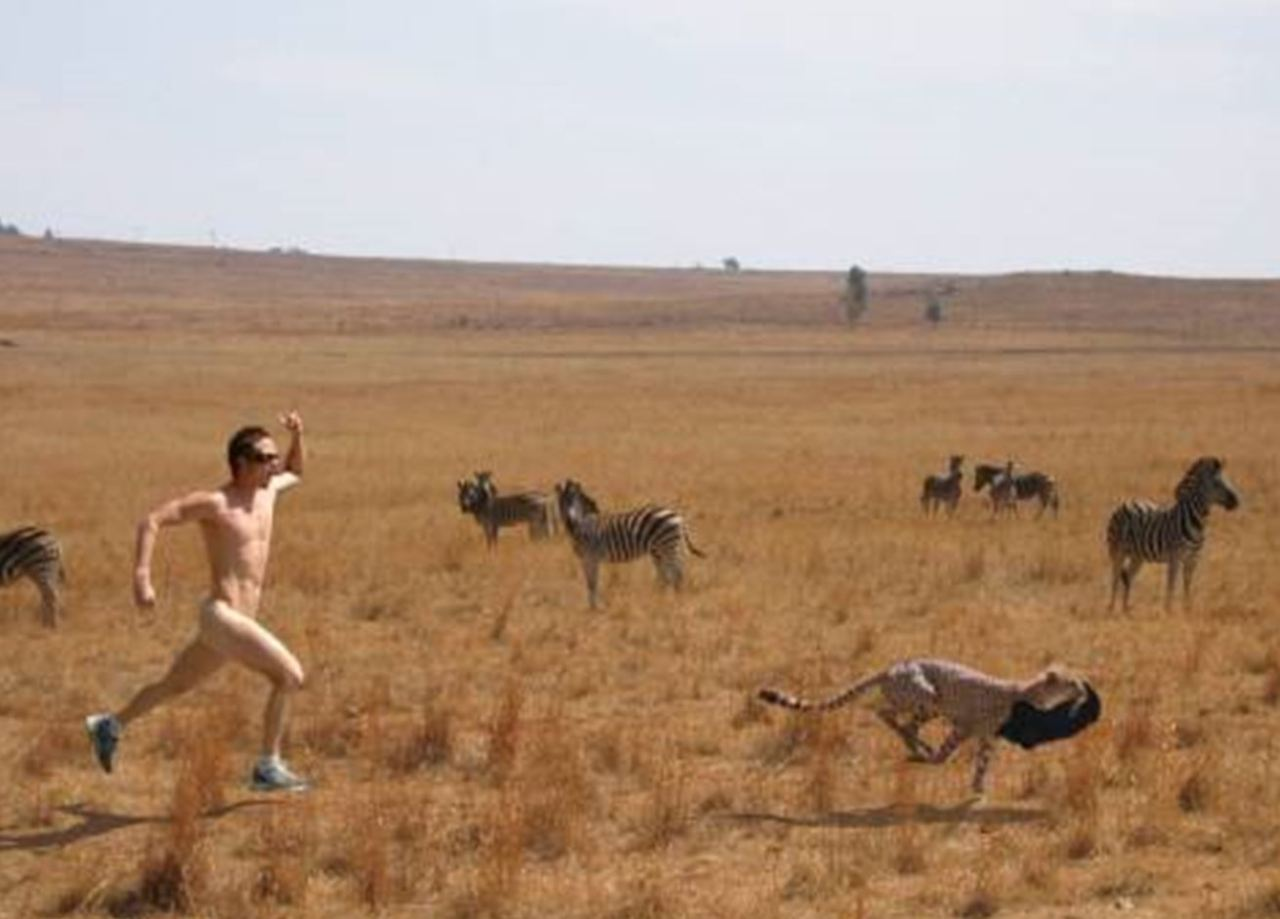 naked runner cheetah