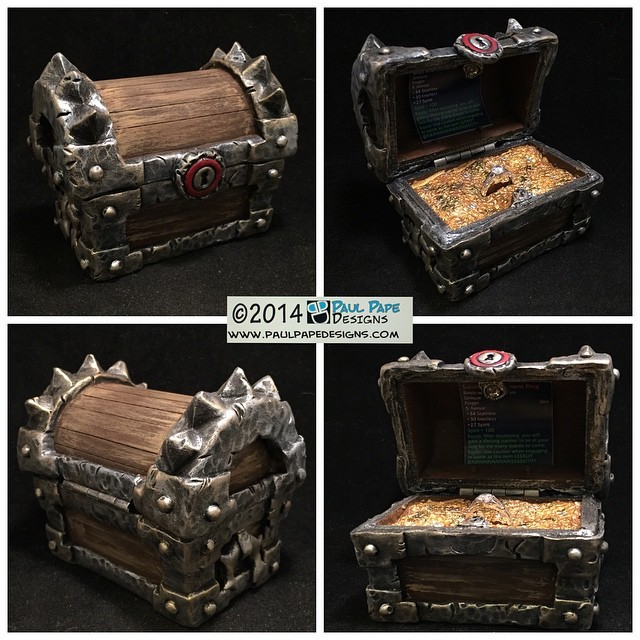 #WorldofWarcraft #horde #treasure #chest #custom #engagement #ringbox by #paulpapedesigns