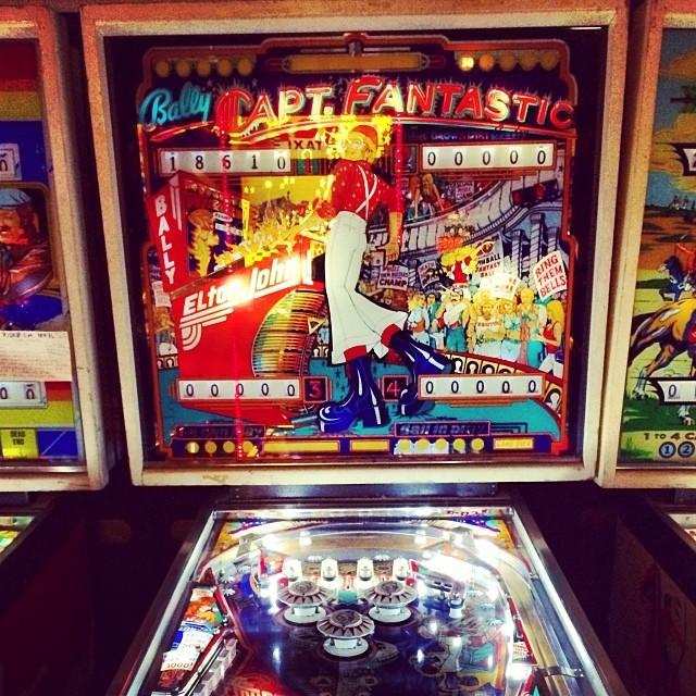 Bally's Captain Fantastic Pinball Machine.  At Pinball Hall of Fame. #EltonJohn (at Pinball Hall of Fame)