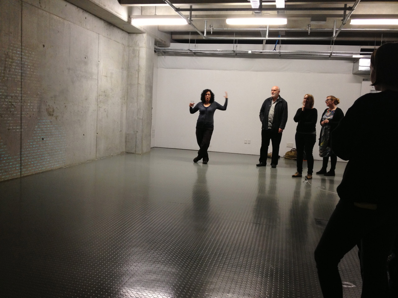 Nooroa Tapuni's studio critique - art and performance research participants can become very passionate about ideas!