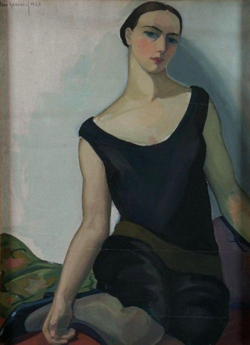 elpasha71:  Jane Graverol (1905-1984) - Young woman sitting in 1927