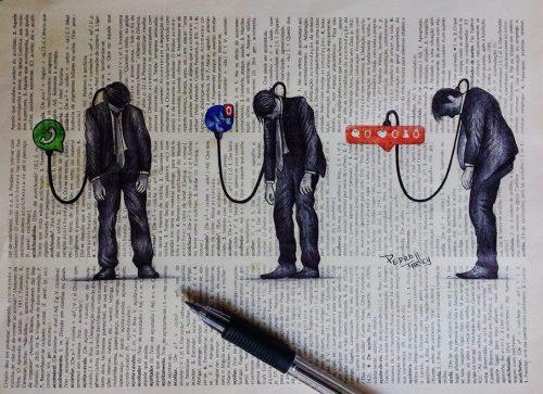 """Até onde as redes sociais interferem na sua vida?Às vezes perdemos tempo demais checando ou atualizando nossos""""perfis"""" no mundo online. Esse que não tem lugar fixo, um endereço, apenas existe, está aí por aí. Não tenho pretensão em falar mal de algo que uso e aprovo, mas saber usar é outra coisa. Fazer uso, quando necessário, sim, contudo utilizar dela para viver, andar torto, ser atropelado ou atropelar alguém em decorrência do uso nada saudável é outra história.E convenhamos, não é uma rede social ou uma curtida que vai dizer quem você é ou deve ser. Trabalhar e cuidar da família e de si é em primeiro, depois, olhar umas fotografias no Instagram ou assistir um show no Youtube não tem problema. O problema mora quando nos distanciamos de quem verdadeiramente está ao nosso lado. Que você pode ver e conversar olhando nos olhos - não tem algo melhor! E como citei acima, a saúde está em perigo, por diversos motivos. Até mesmo o psicológico está sendo atingido, ou melhor, bombardeado com tantas notificações. Que por vezes nem nos interessam tanto.""""Acabar com as redes sociais!"""" Foi um comentário de um colega meu. Erro! Então é assim, quando nos deparamos com algum problema vamos lá e acabamos com ele? Vamos excluir nossas contas e ficarmos off? Não! É só aprender a ter um pouco de noção do que mais vale para você. Ter na mente a importância do real. E de aproveitar a viajem ou o almoço em família, em vez de postar tudinho no Snapchat.Falando por mim, amante da fotografia e da arte eu utilizo todos os dias a minha conta no Instagram, principalmente, para divulgar meu trabalho. Todavia, confesso que no início foi complicado. Queria acompanhar todas as fotografias. Sigo muita gente, na maioria, fotógrafos. Gosto de acompanhar a arte e de ver o que vem de novidade. Porém, parei para pensar quando notei que ficava mais de uma hora vendo fotografias. Claro, como trabalho com isso acabo vendo mais fotografias no dia a dia. Contudo, quando estava em casa era só para minha casa qu"""