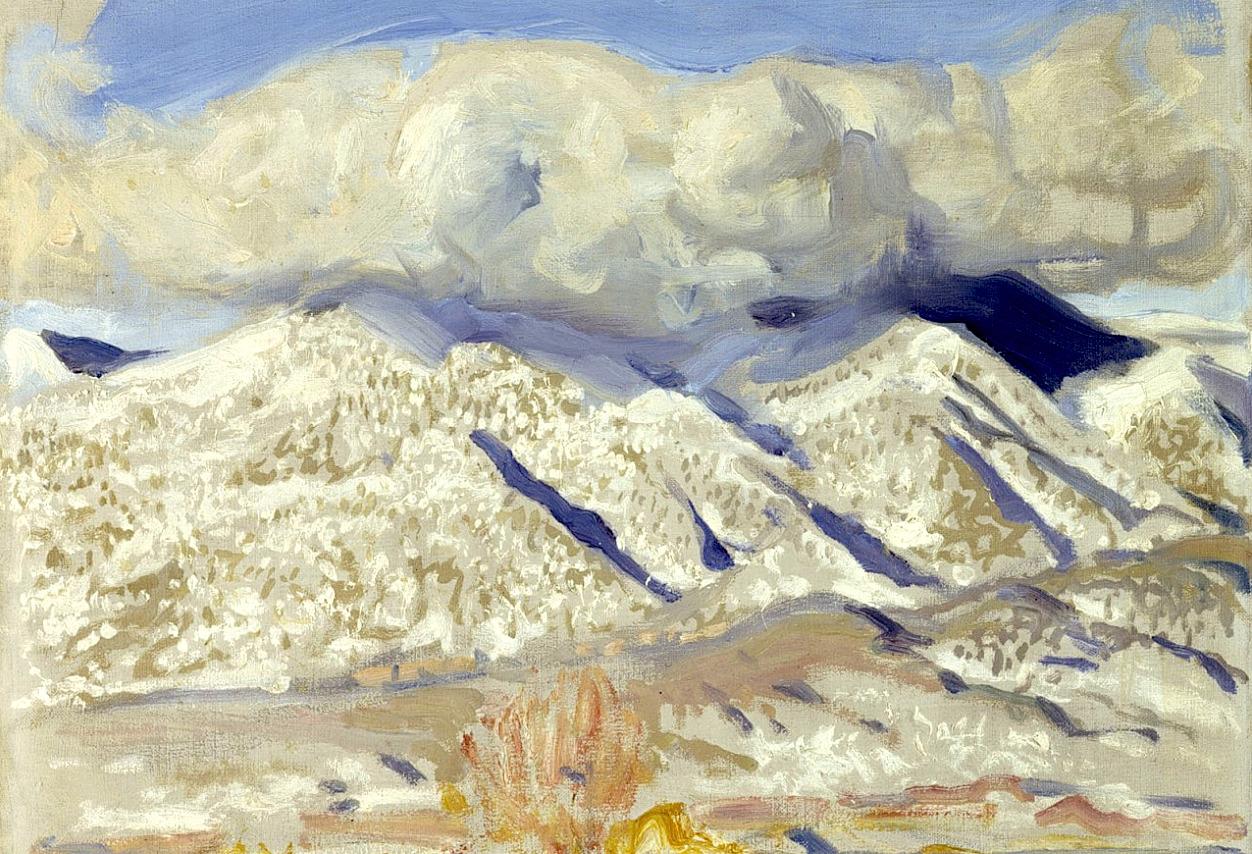 bofransson: Akseli Gallen-Kallela/ Taosbergen i moln, ca 1924.