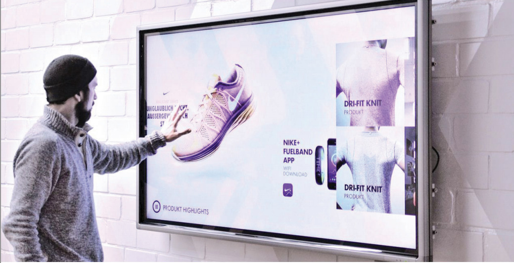 Nike in-store touchscreen