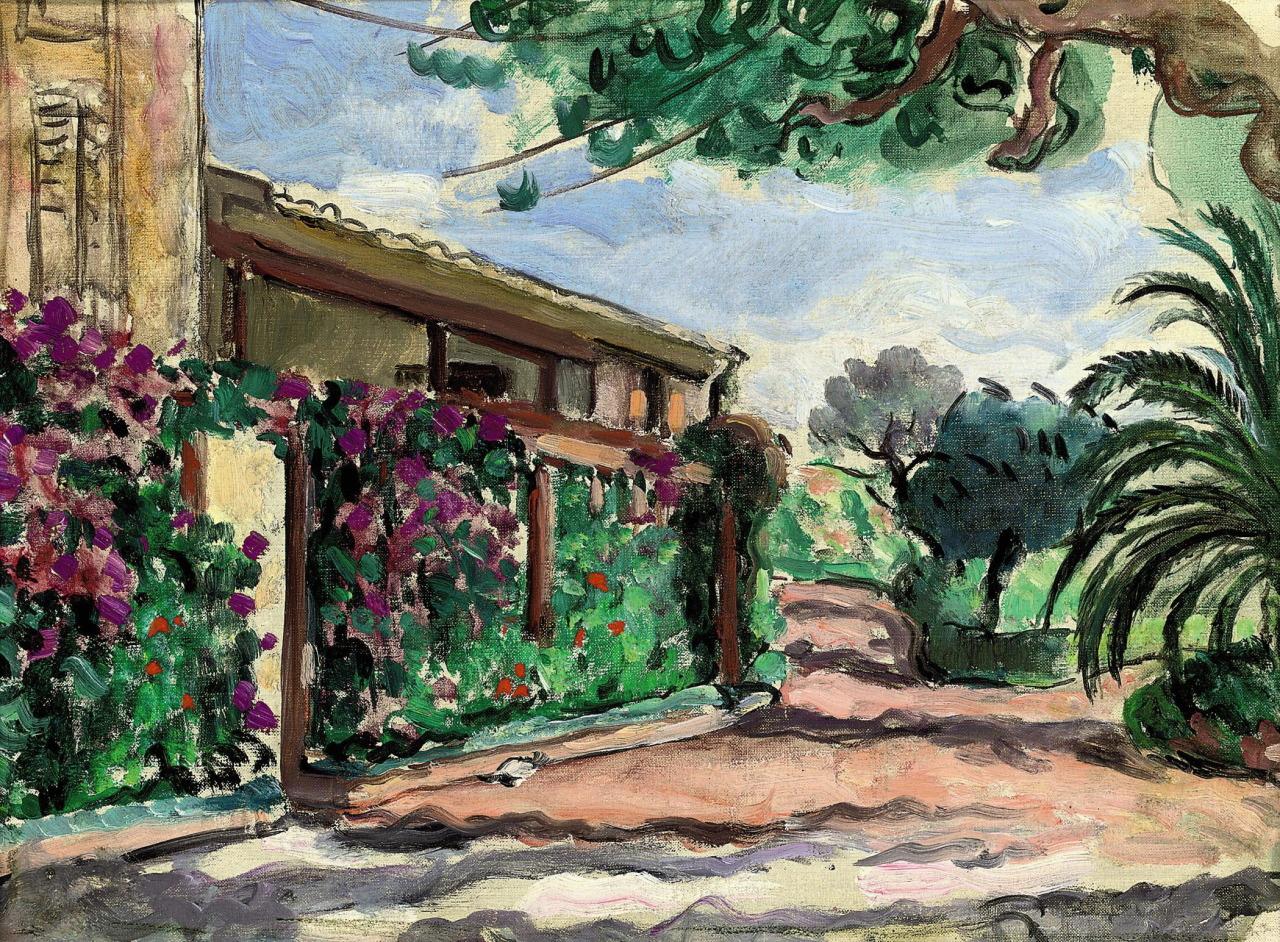 lawrenceleemagnuson:Henri Lebasque (France 1865-1937) Le jardin au Cannet (1920)oil on canvas 27.5 x 36.6cm