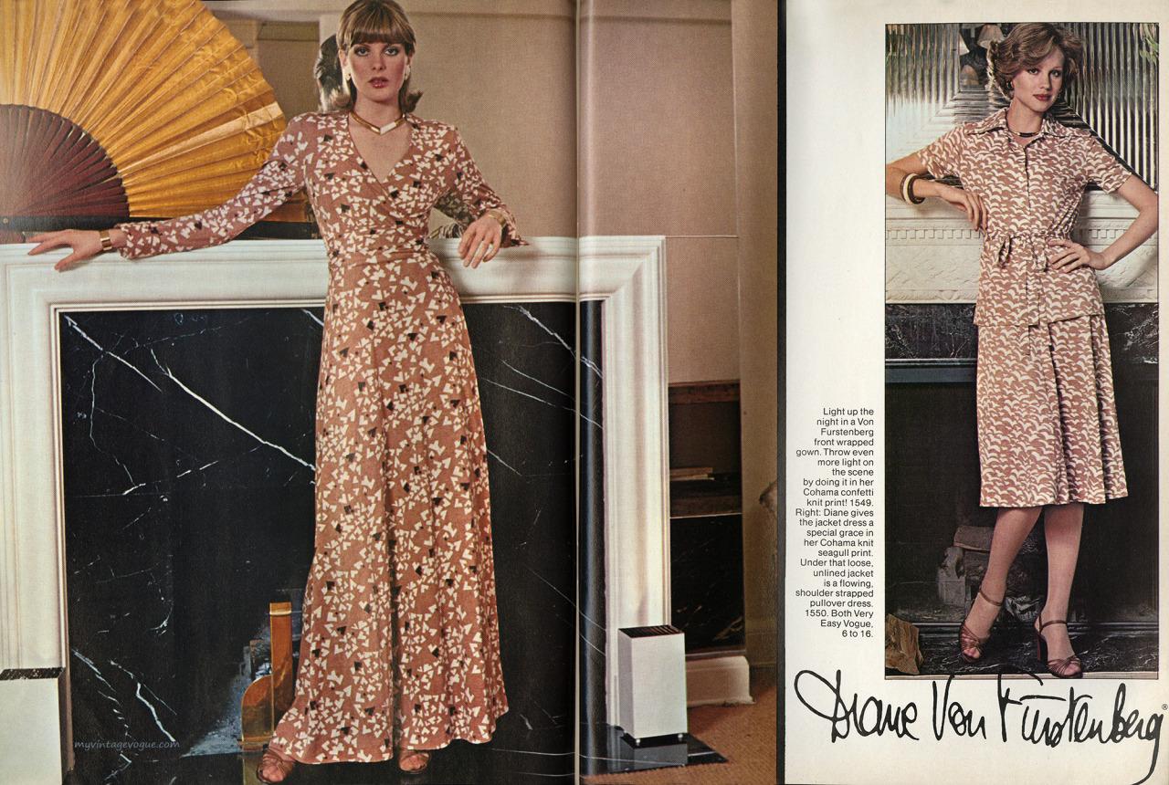 Chris von Wangenheim photos of Vogue 1549 and 1550 in a 1976 Vogue Patterns editorial