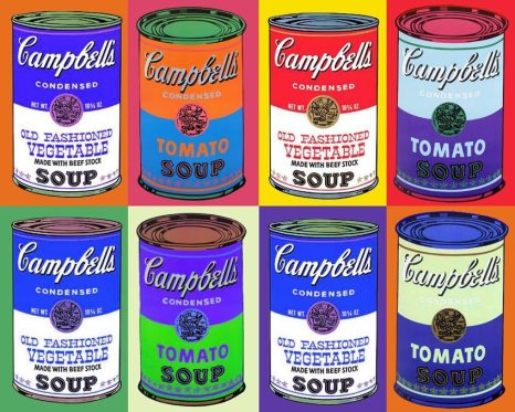 Image result for andy warhol pop art food campbells