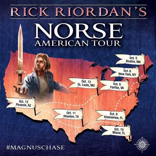 What does the Norse American tour look like? Something like this. #magnuschase @disneybooks