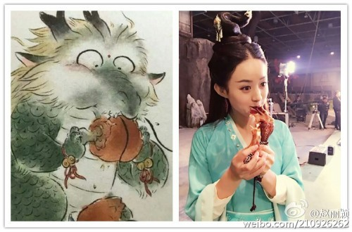 Zhao Liying channeling her inner dragon