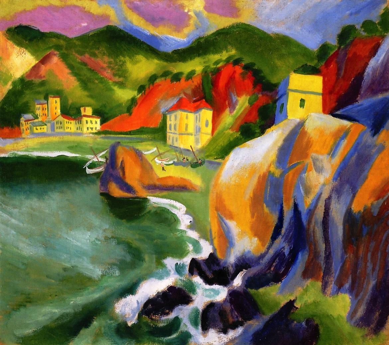 dappledwithshadow:  Monte Rosse on the SeaMax Pechstein - 1913