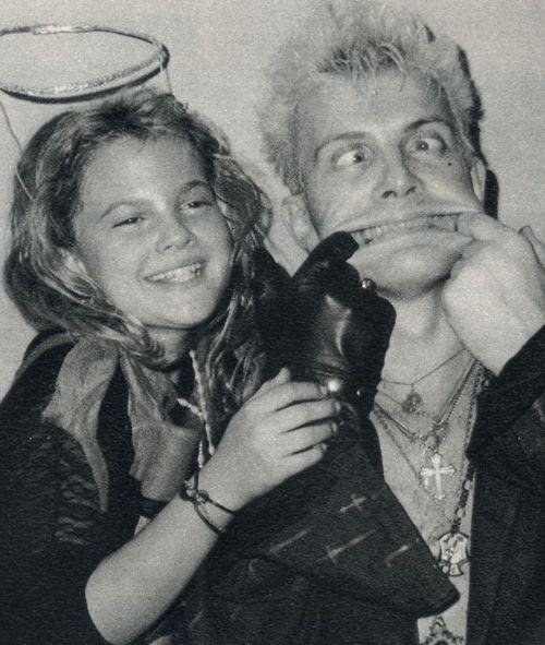 Drew Barrymore andBilly Idol