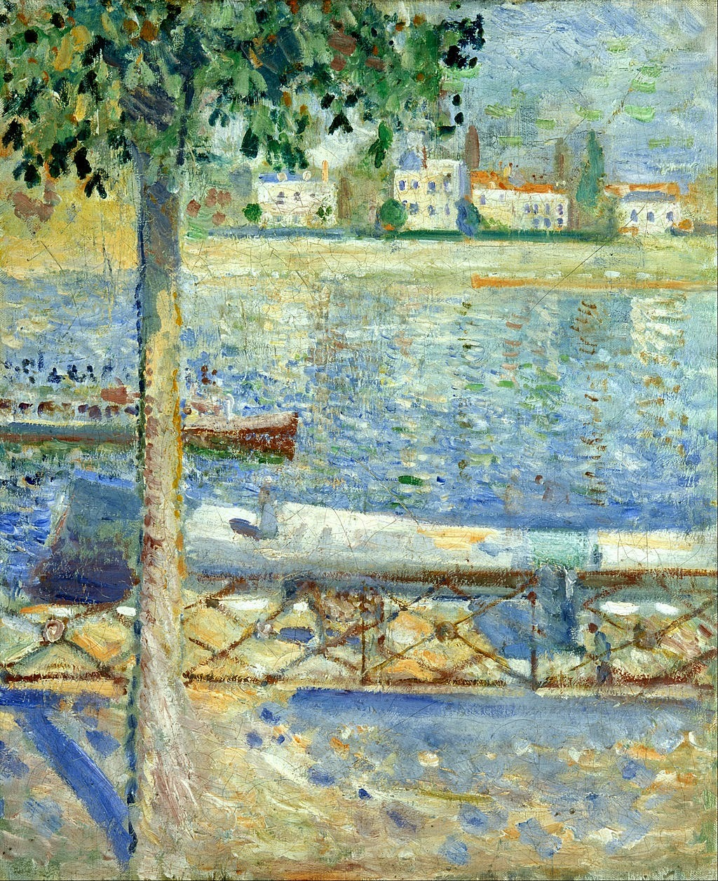 dappledwithshadow:  Edvard MunchThe Seine at Saint-Cloud 1890oil on canvas 46.5 x 38 cm