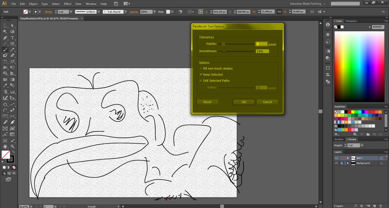 Adobe Illustrator Paintbrush