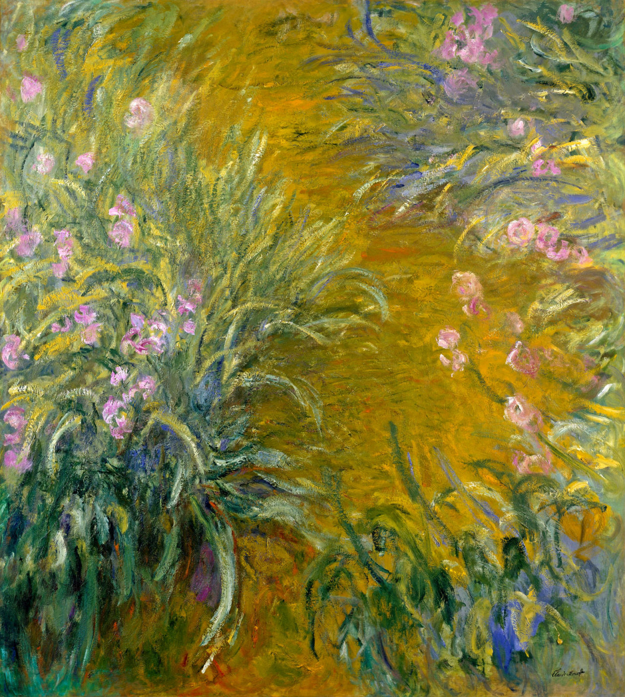 dappledwithshadow:  Path through the Irises I, Claude Monet, 1914-1917.