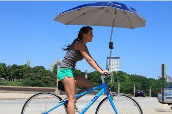 自転車に取り付ける傘