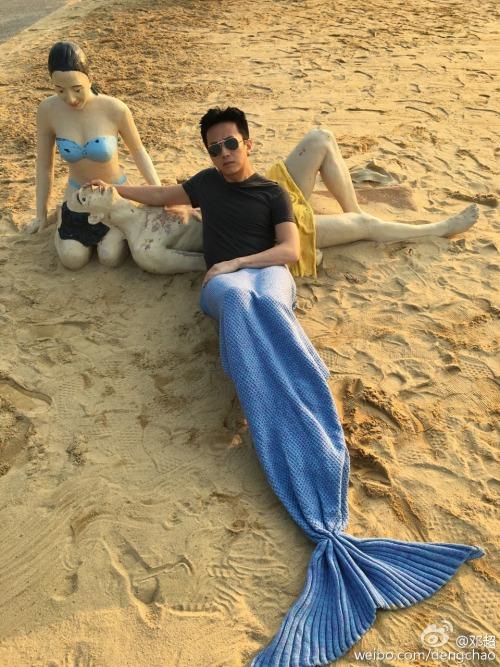 Deng Chao becomes a mermaid