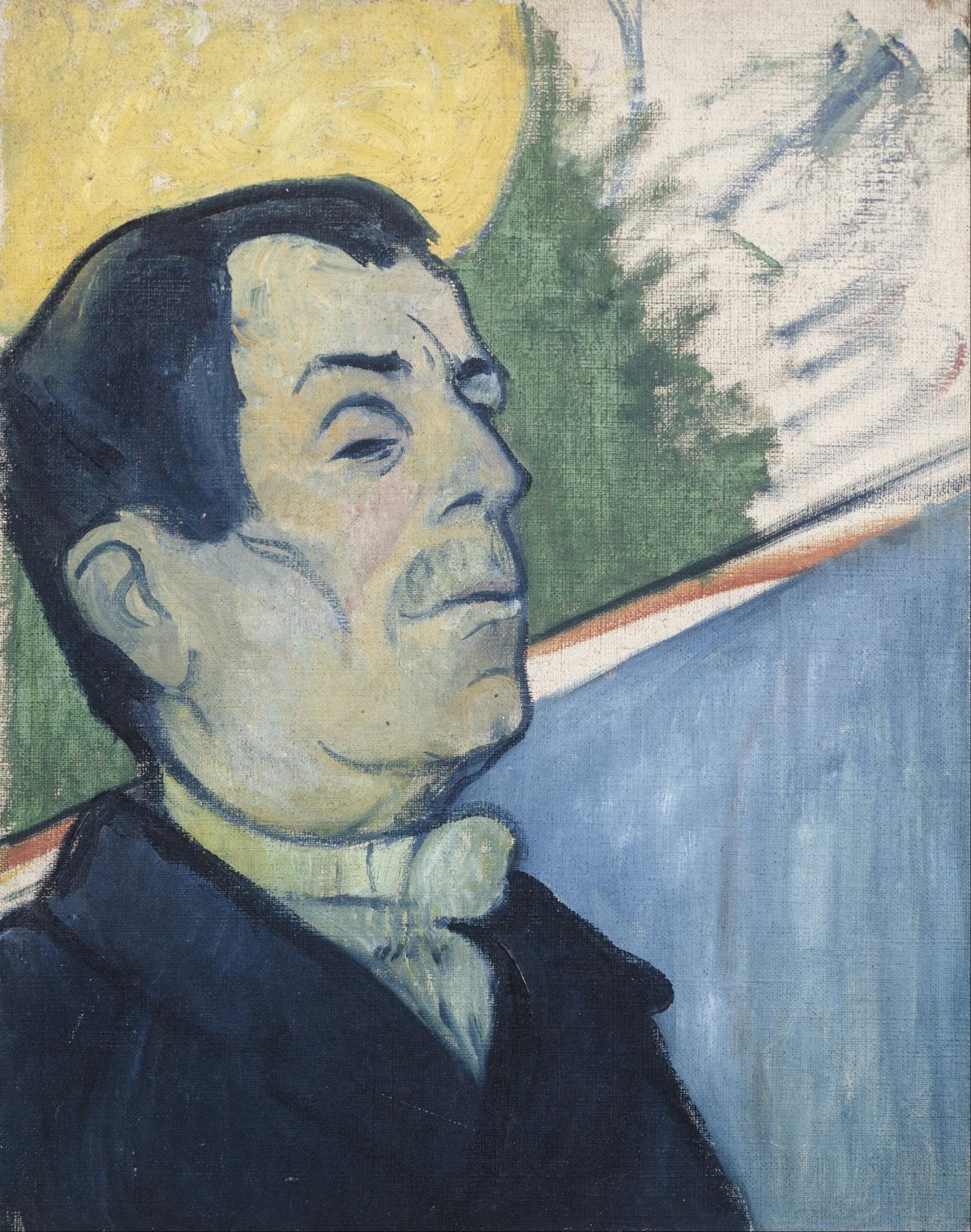 herzogtum-sachsen-weissenfels:  Paul Gauguin (French, 1848-1903), Portrait of a Man Wearing a Lavalliere, 1888. Oil on canvas, 40.5 x 32 cm.