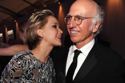 Jennifer Lawrence and Larry David