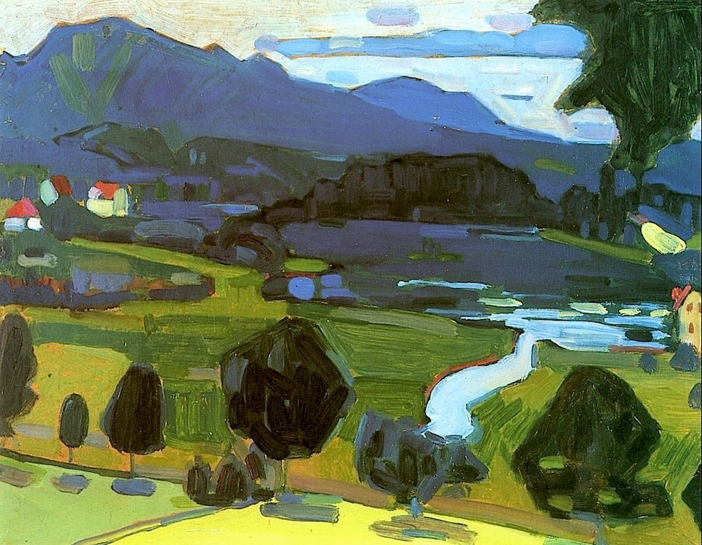 Wassily Kandinsky (1866-1944)View over the Staffelsee (1908)
