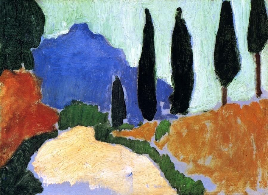 bofransson:  Cypresses Andre Derain - 1907