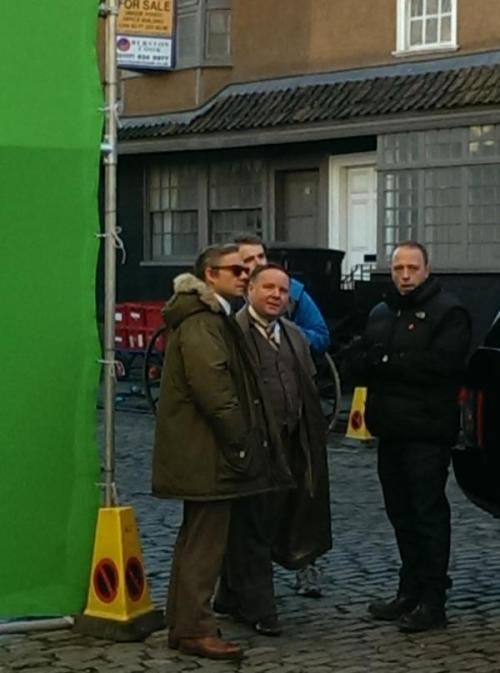 Martin Freeman and David Nellist (Mike Stamford) https://twitter.com/writersltd/status/561121627887665152